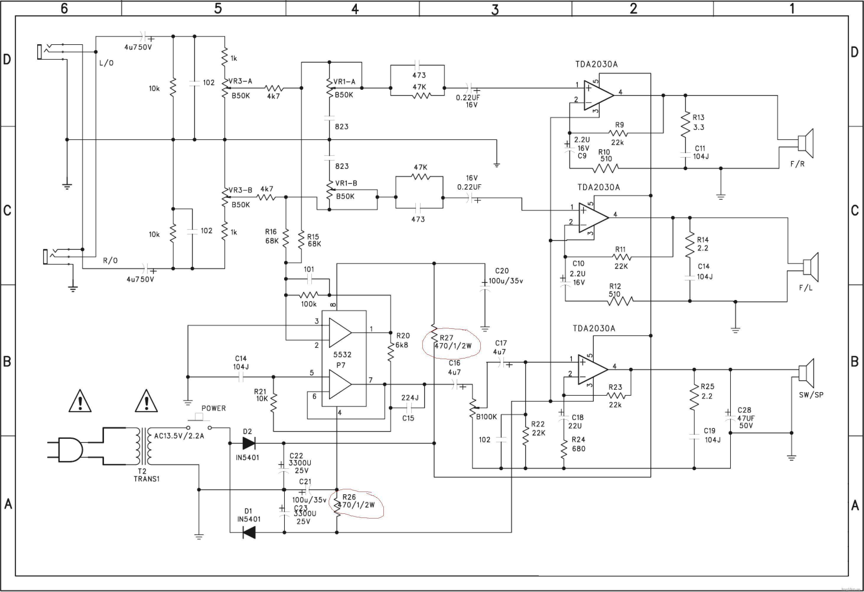схема усилителя Sven bf 21